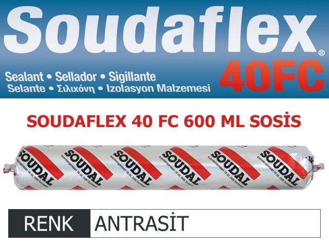SOUDAL SOUDAFLEX 40FC ANTRASİT 600 ML