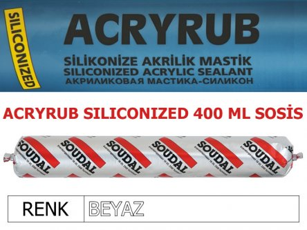 SOUDAL ACRYRUB SİLİKONİZE MASTİK BEYAZ 400 ML