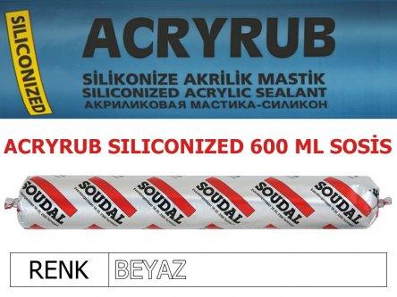 SOUDAL ACRYRUB SİLİKONİZE MASTİK BEYAZ 600 ML