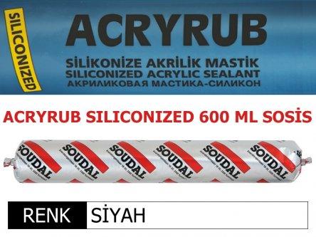 SOUDAL ACRYRUB SİLİKONİZE MASTİK SİYAH 600 ML